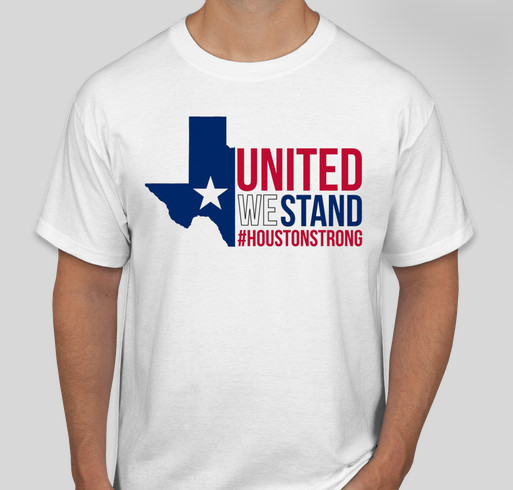 Houston strong t shirt hurricane harvey relief support for Houston custom t shirts