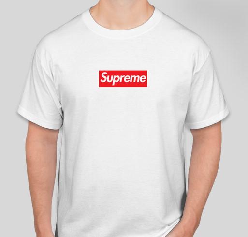64a82e2a110c37 Supreme MDM Box Logo Tee Fundraiser - unisex shirt design - front