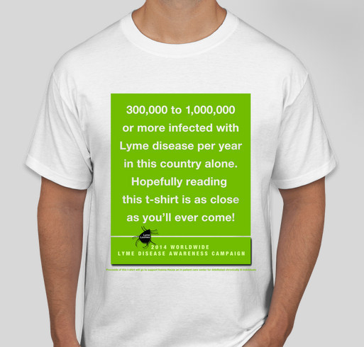 2014 Lyme Awareness Campaign Fundraiser - unisex shirt design - front