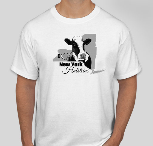 Holsteins and NY Juniors- great combination! Fundraiser - unisex shirt design - front