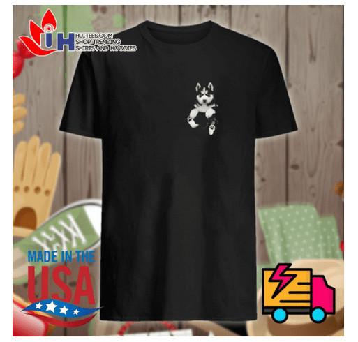 Husky Tiny Pocket shirt shirt design - zoomed