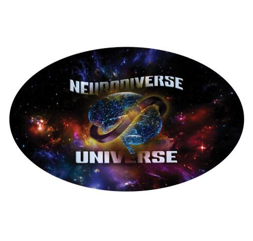 Neurodiverse Universe T-shirt Fundraiser shirt design - zoomed