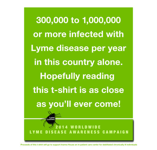 2014 Lyme Awareness Campaign shirt design - zoomed