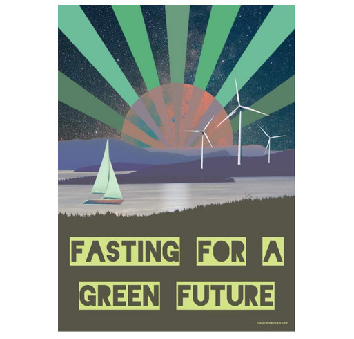 """""""Wisconsin 7"""" 22-Day Fast For Climate Justice T-Shirt Drive! shirt design - zoomed"""