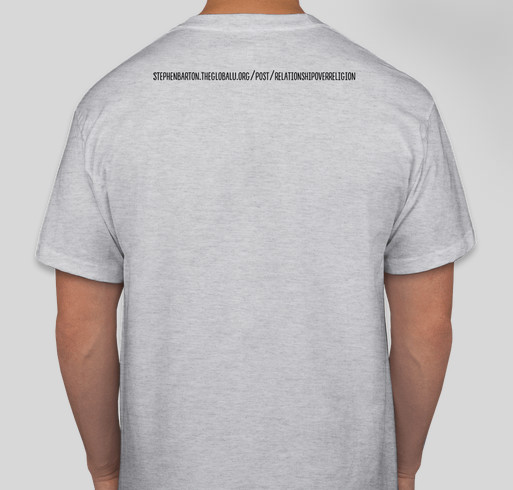 Relationship over Religion Fundraiser - unisex shirt design - back