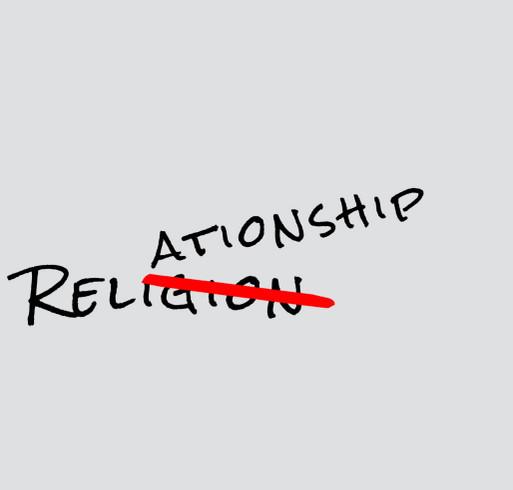 Relationship over Religion shirt design - zoomed