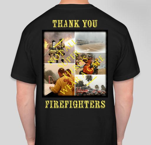 CarrFire & Mendocino Complex Animals Fundraiser - unisex shirt design - back