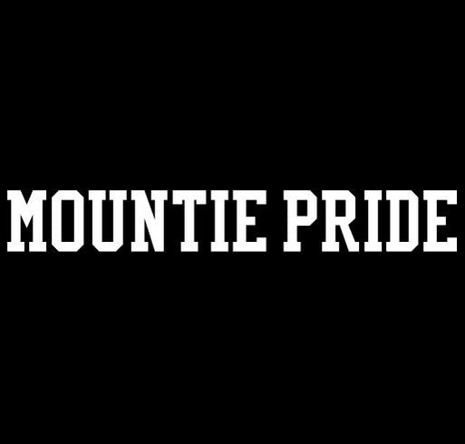 Mountie Pride shirt design - zoomed