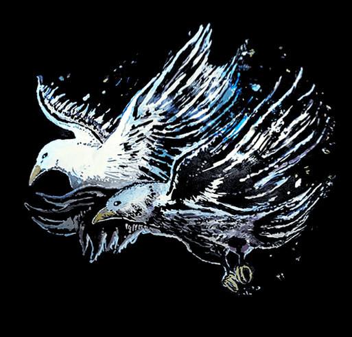 "417 Studios (FourOneSevenStudios) - ""Flight"" T-Shirt - Print Store Launch shirt design - zoomed"