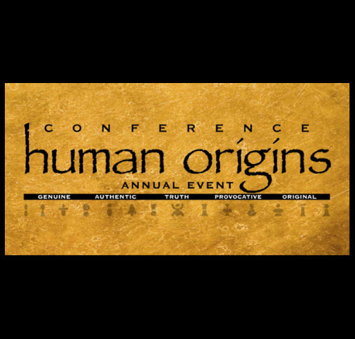 Human Origins Conference shirt design - zoomed