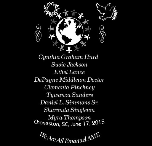 Families of Charleston, SC Mother Emanuel AME Shooting shirt design - zoomed