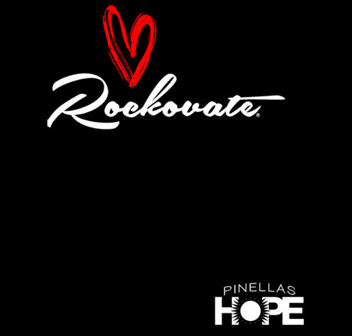 Rockovate LOVE Concert for Pinellas Hope shirt design - zoomed