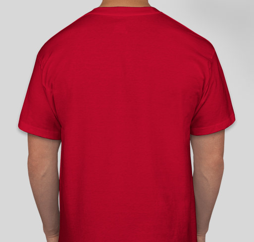 """Design 1: Retro One Color """"Red Knight Pride! 60 Years Strong!"""" Fundraiser - unisex shirt design - back"""