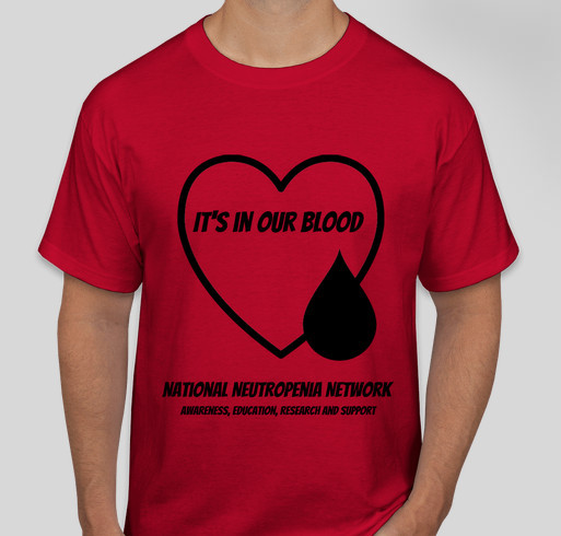 It's in our blood Fundraiser - unisex shirt design - front