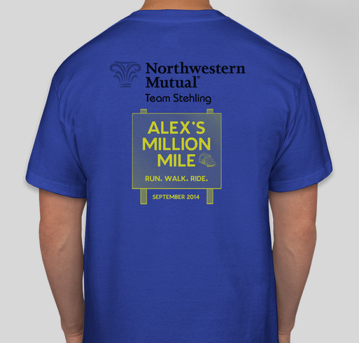 Team Stehlings Million Mile! Fundraiser - unisex shirt design - back