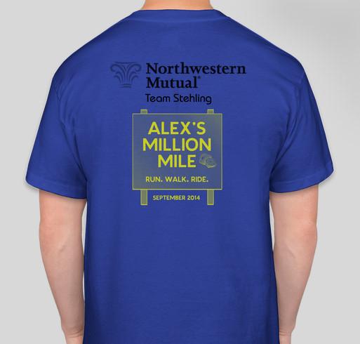 Team Stehlings Million Mile! Fundraiser - unisex shirt design - back