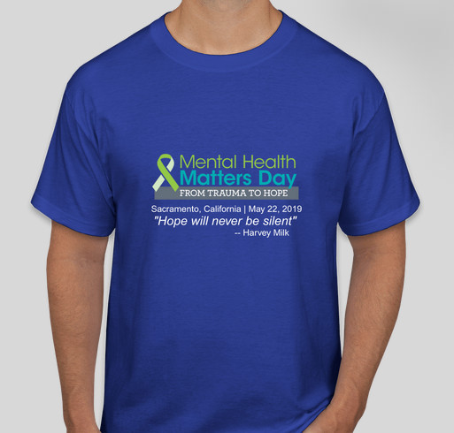 Mental Health Matters Day Commemorative T-Shirt! Fundraiser - unisex shirt design - front