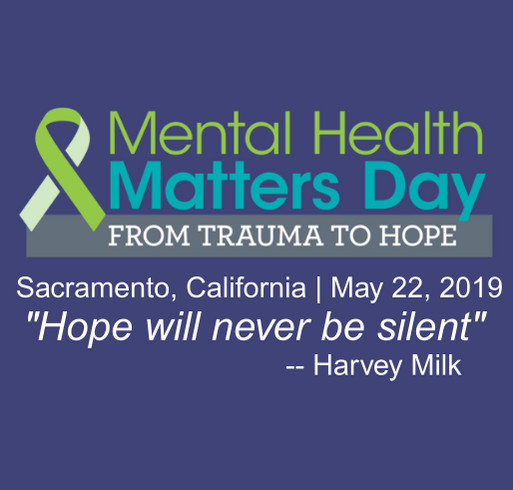 Mental Health Matters Day Commemorative T-Shirt! shirt design - zoomed