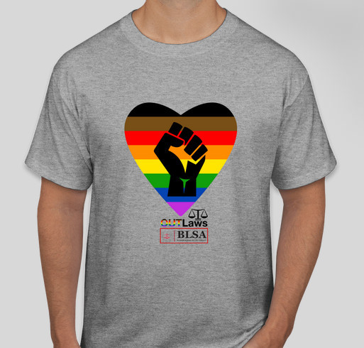 OUTLaws and BLSA support Black Lives Matter Fundraiser - unisex shirt design - front