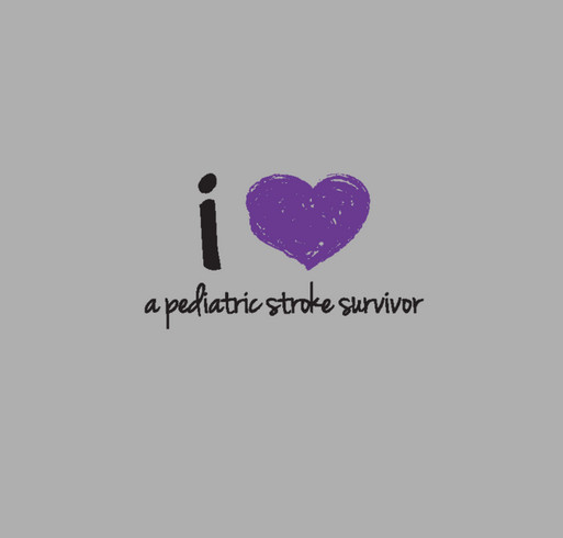 "2014 Pediatric Stroke Awareness ""I Love"" shirt from CHASA shirt design - zoomed"