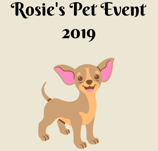 Rosie's Pet Event 2019 shirt design - zoomed
