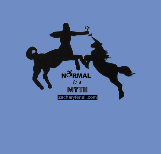 Normal is a Myth- Stop Trying to Blend In and Instead Blend Out! shirt design - zoomed