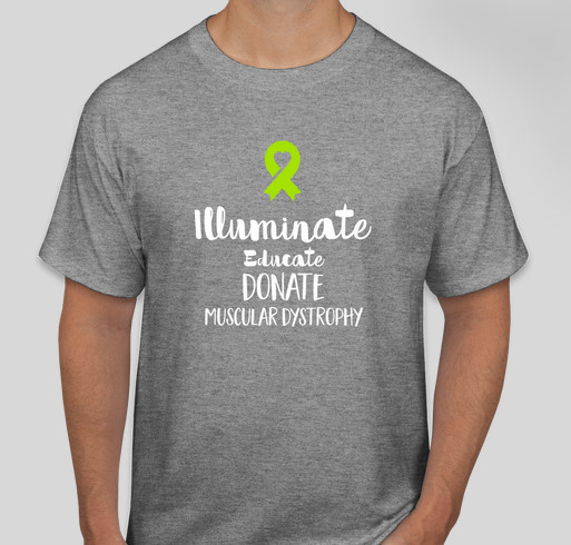 Help spread the word Muscular and Neuromuscular diseases Fundraiser - unisex shirt design - front