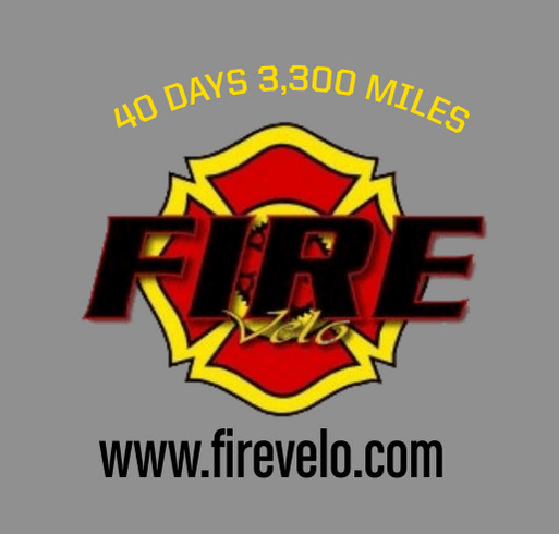 Ride For America 2021 - Firefighters bicycling for veterans, firefighter cancer and mental health round 2 shirt design - zoomed