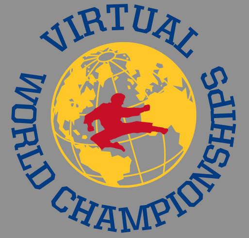 Virtual World Championships Merch shirt design - zoomed