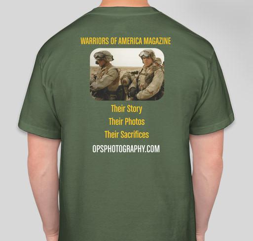 Warriors of America Magazine Fundraiser - unisex shirt design - back
