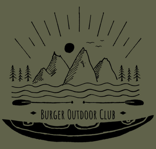Outdoors Club Fundraiser shirt design - zoomed
