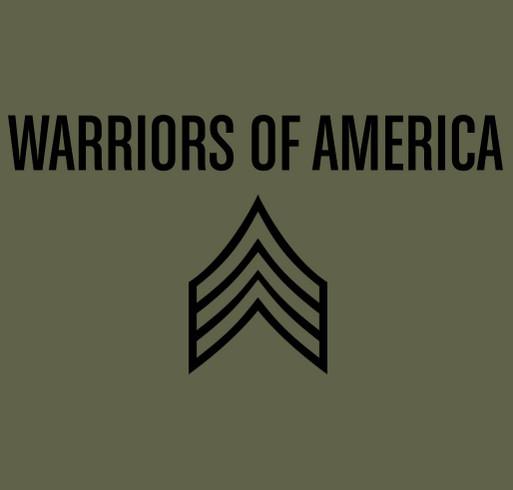 Warriors of America Magazine shirt design - zoomed