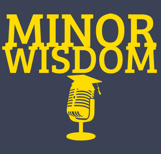 Minor Wisdom shirt design - zoomed