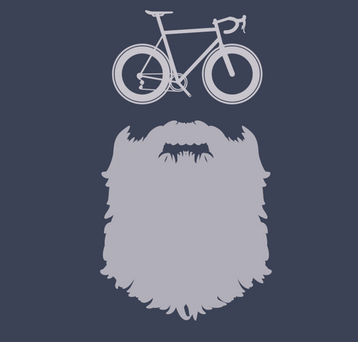 Bike For Beards Campaign shirt design - zoomed