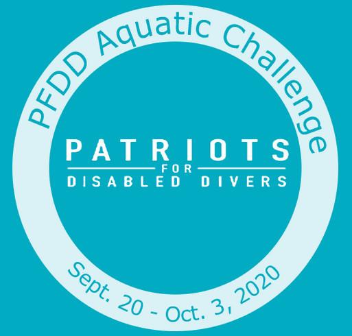 PFDD Aquatic Challenge shirt design - zoomed