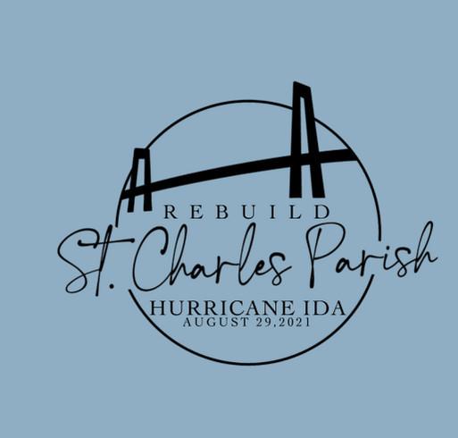 Rebuild St. Charles Parish shirt design - zoomed