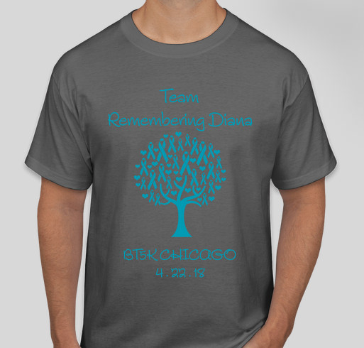 Team Remembering Diana Fundraiser - unisex shirt design - front