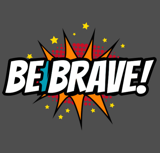 Nevada Child Seekers - Be Brave Shirt Fundraiser shirt design - zoomed
