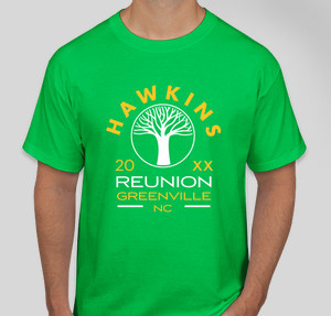 hawkins reunion - Family Reunion T Shirt Design Ideas