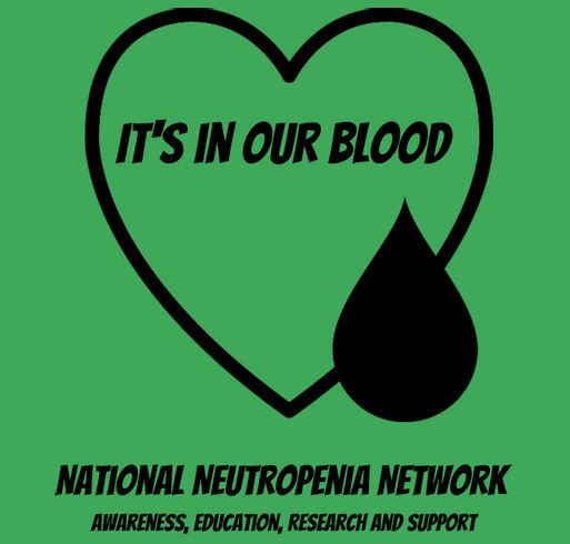 It's in our blood shirt design - zoomed