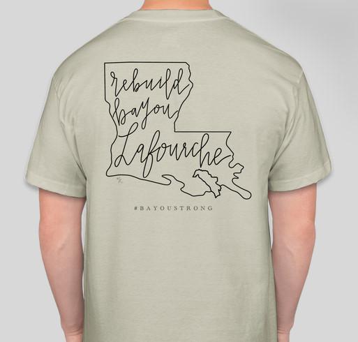 Rebuild Bayou Lafourche Fundraiser - unisex shirt design - back