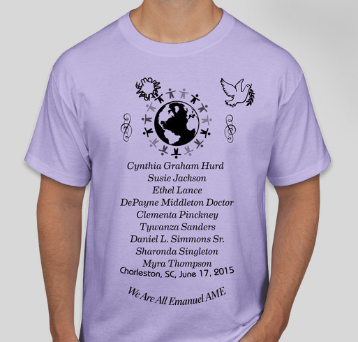 Families of Charleston, SC Mother Emanuel AME Shooting Fundraiser - unisex shirt design - front