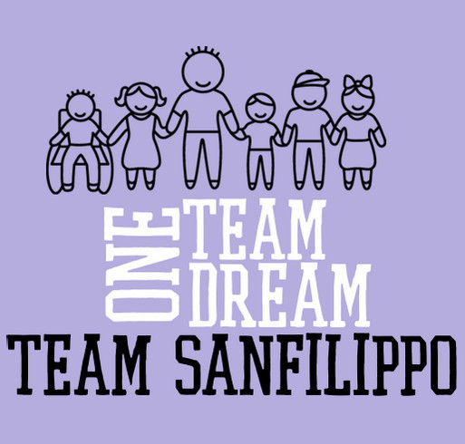 Team Sanfilippo shirt design - zoomed