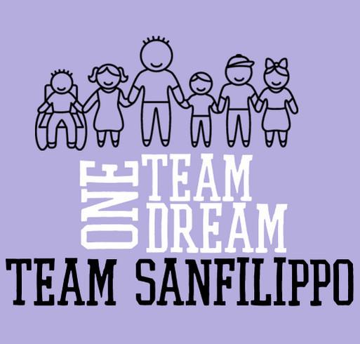 Team Sanfilippo shirt design - zoomed