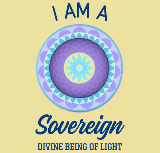I AM A SOVEREIGN DIVINE BEING shirt design - zoomed