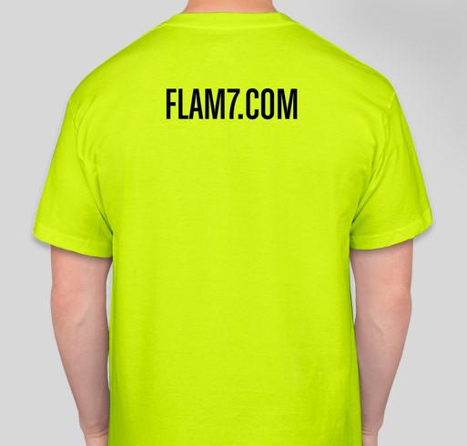 Flam 7 Shirts Part 2! Fundraiser - unisex shirt design - back