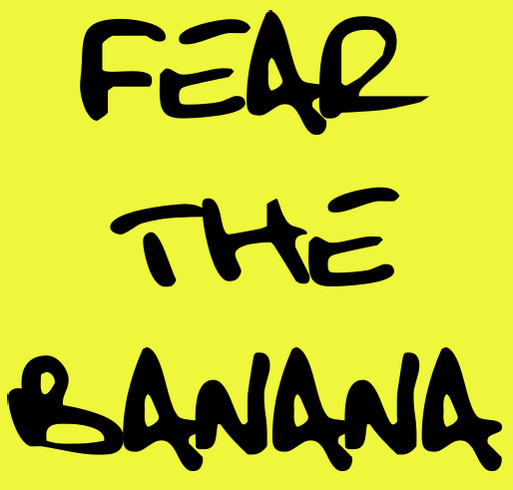 Team Banana shirt design - zoomed