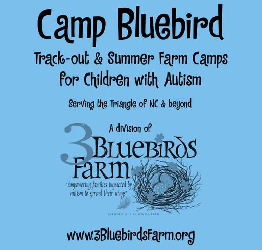 3 Bluebirds Farm shirt design - zoomed