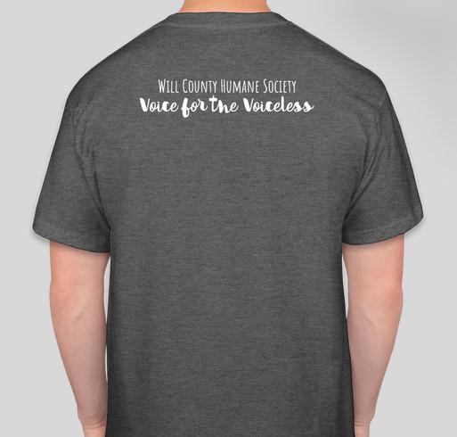 WCHS Paw Support Tees Fundraiser - unisex shirt design - back