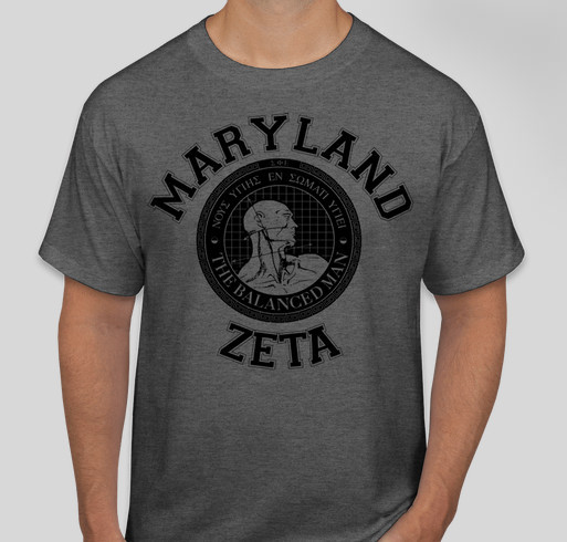 SigEp Maryland Zeta Balanced Man Fundraiser - unisex shirt design - front